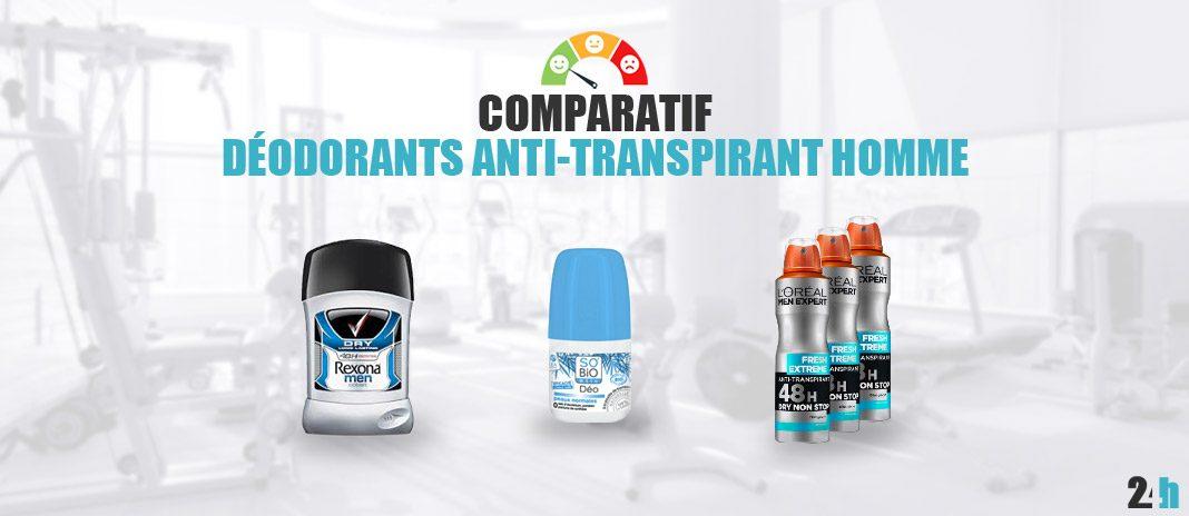 comparatif anti transpirant homme