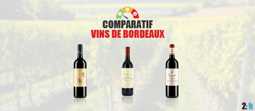 comparatif meilleurs vins bordeaux