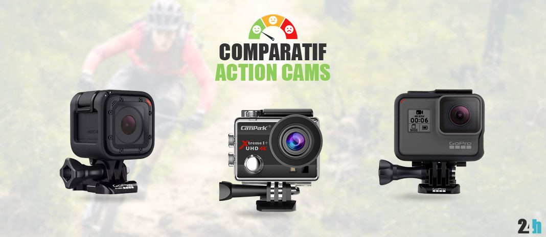 comparatif action cams gopro
