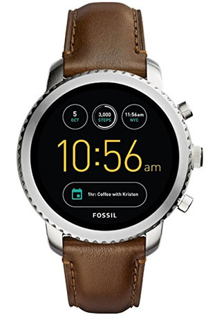 montre fossil connectee
