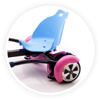 siège hovercart bleu